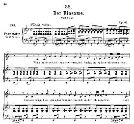 Der Einsame D.800, Medium Voice in F Major, F. Schubert, (Pet.) | eBooks | Sheet Music