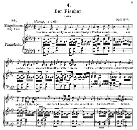 Der Fischer D.225 in A Flat Major, Medium Voice. F. Schubert, Pet. | eBooks | Sheet Music