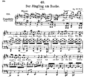 Der Jüngling am Bache D.638, Medium Voice in B Minor, F. Schubert (Pet.) | eBooks | Sheet Music