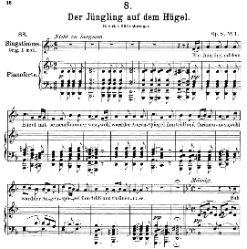 Der Jüngling auf dem hügel D.702, Medium Voice in D Minor, F. Schubert (Pet.) | eBooks | Sheet Music