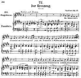 Der Kreuzzug D.932 in E Major, Medium Voice. F. Schubert, Pet. | eBooks | Sheet Music