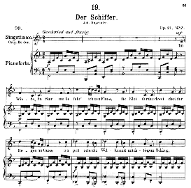 Der Schiffer D.536, Medium Voice in F Major, F. Schubert, Pet. | eBooks | Sheet Music