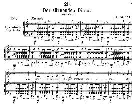 Der zürnender Diana D.707, Medium Voice in F Major, F. Schubert, C.F. Peters | eBooks | Sheet Music