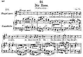 Die Rose D.745, Medium Voice in G Major, F. Schubert  (Pet.) | eBooks | Sheet Music