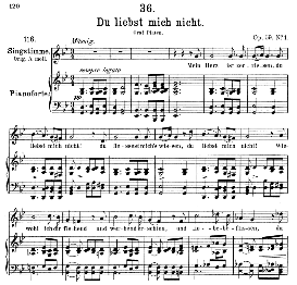 Du liebst mich nicht D.193, Medium Voice in G Minor, F. Schubert (Pet.) | eBooks | Sheet Music