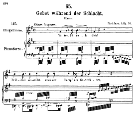 Gebet wâhrend der Schlacht D.171, Medium Voice in G Major, F. Schubert ( Pet.) | eBooks | Sheet Music