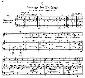 Gesänge des Harfners D.478-2, Medium Voice in G Minor, F. Schubert ( Pet.) | eBooks | Sheet Music