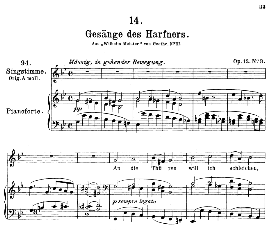 Gesänge des Harfners D.478-3, Medium Voice in G Minor, F. Schubert (Pet.) | eBooks | Sheet Music