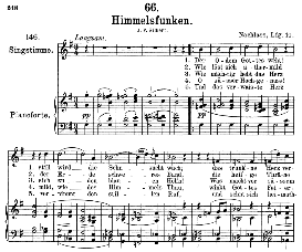 Himmelsfunken D.651, Medium Voice in G Major, F. Schubert ( Pet.) | eBooks | Sheet Music