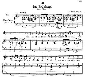 im frühling d.882, medium voice in f major, f. schubert ( pet.)