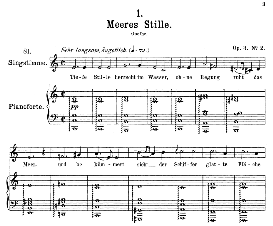 Meeres stille D.216, Medium Voice in C Major, F. Schubert, C.F. Peters | eBooks | Sheet Music