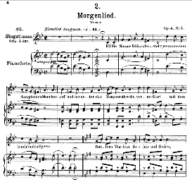 Morgenlied D.685, Medium Voice in G Minor, F. Schubert (Pet.) | eBooks | Sheet Music
