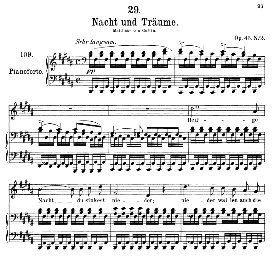Nacht und Traüme D.827, Medium Voice in B Major, F. Schubert (Pet.) | eBooks | Sheet Music