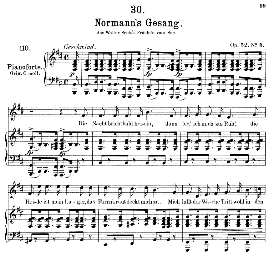 Normanns gesang D.846, Medium Voice in B Minor, F. Schubert (Pet.) | eBooks | Sheet Music