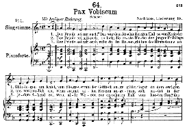 Pax vobiscum D.551, Medium Voice in F Major, F. Schubert (Pet.) | eBooks | Sheet Music