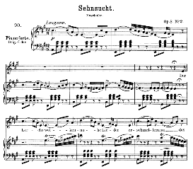Sehnsucht D.516 Der Lerche Wolken..., Medium Voice in A Major, F. Schubert (Pet.) | eBooks | Sheet Music