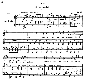 "Sehnsucht D.636 ""Aus dieses Tales Gründen"" , Medium Voice in B Minor, F. Schubert, C.F. Peters 