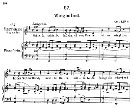 Wiegenlied D.498 Schlafe, schlafe,.,  Medium Voice in G Major, F. Schubert (Pet.) | eBooks | Sheet Music