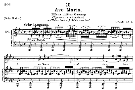 Ave Maria, Ellens Gesang III, D. 839, Medium Voice in A Flat Major,.F. Schubert (Pet.) | eBooks | Sheet Music