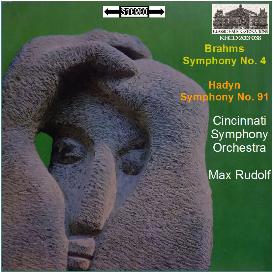 brahms: sym. no 4; hadyn: sym. no. 91 - cincinnati so/max rudolf
