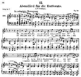 Abendlied für die Entfernte D.856, Medium Voice in E Flat Major, Medium Voice. F. Schubert (Pet.) | eBooks | Sheet Music