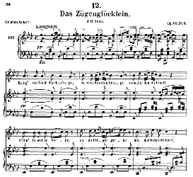 Das Zügenglocklein D.871, Medium Voice in A Flat Major, F. Schubert (Pet.) | eBooks | Sheet Music