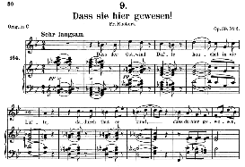 Dass sie hier gewesen! D.775, Medium Voice in B Flat Major, F. Schubert, C.F. Peters | eBooks | Sheet Music