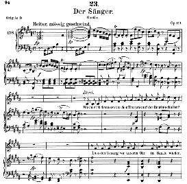 Der Sänger D.149, Medium Voice in B Major, F. Schubert (Pet.) | eBooks | Sheet Music