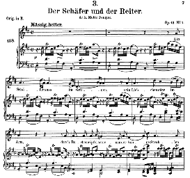 Der Schäfer und der Reiter D.517, Medium Voice in D Major, F. Schubert (Pet.) | eBooks | Sheet Music