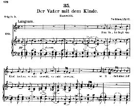 Der Vater mit dem Kinde D.906 in C Major, Medium Voice. F. Schubert (Pet.) | eBooks | Sheet Music