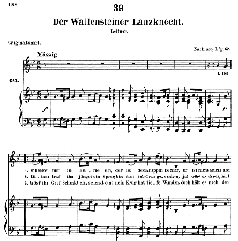 Der wallensteiner Lanzknecht D.931, Medium Voice in G Minor, F. Schubert (Pet.) | eBooks | Sheet Music