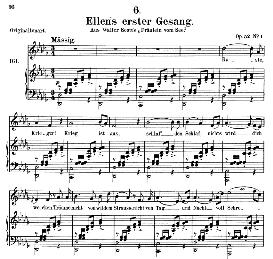 Ellen's Gesang I, D.837, Medium Voice in D Flat Major, Medium Voice. F.Schubert (Pet.) | eBooks | Sheet Music