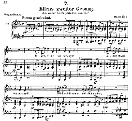 Ellen's Gesang II, D.838, Medium Voice in E Flat Major, F. Schubert (Pet.) | eBooks | Sheet Music