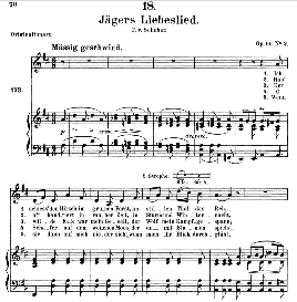 Jägers Liebeslied D.909, Medium Voice in D Major, F. Schubert (Pet.) | eBooks | Sheet Music