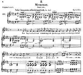 Memnon D.541, Medium Voice in D Flat Major, F. Schubert (Pet.)) | eBooks | Sheet Music
