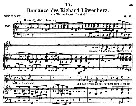 Romanze des Richard Löwenherz  D.856, Medium Voice in B Minor, F. Schubert (Pet.) | eBooks | Sheet Music