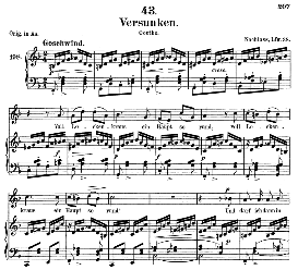 versunken d.715, medium voice in f major, f. schubert (pet.)