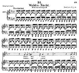 Waldes Nacht D.708, Medium Voice in E Flat Major, Schubert (Pet.) | eBooks | Sheet Music