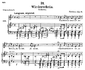 Wiederschein D.639, Medium Voice in B Major, F. Schubert (Pet.) | eBooks | Sheet Music