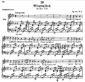 Wiegenlied D.867 in A Flat Major, Medium Voice. F. Schubert. (Pet.) | eBooks | Sheet Music