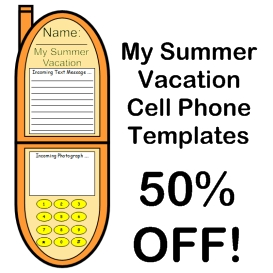 50% off my summer vacation cell phone