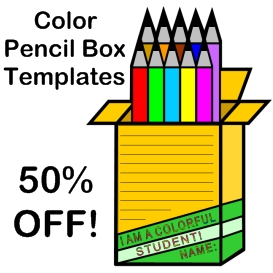 50% off color pencil templates