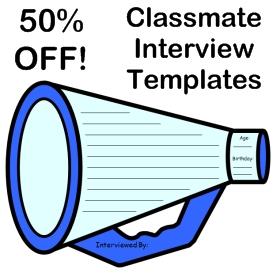 50% off classmate interview megaphone templates