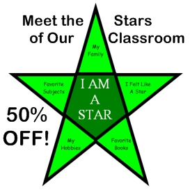 50% off  meet the stars of our classroom star templates