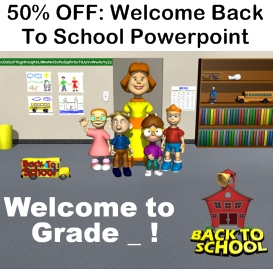 50% off welcome back to school powerpoint