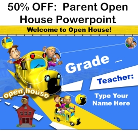 50% off parent open house powerpoint presentation
