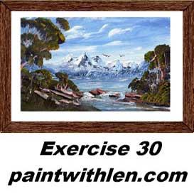 30 paint snow capped peaks
