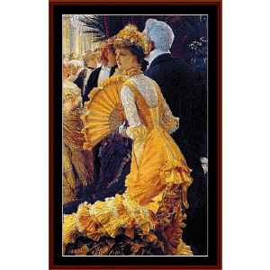 The Ball  - Tissot cross stitch pattern by Cross Stitch Collectibles | Crafting | Cross-Stitch | Wall Hangings