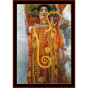 Hygeia - Klimt cross stitch pattern by Cross Stitch Collectibles | Crafting | Cross-Stitch | Wall Hangings