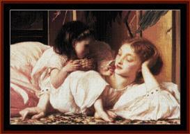 Mother and Child - Leighton cross stitch pattern by Cross Stitch Collectibles | Crafting | Cross-Stitch | Wall Hangings